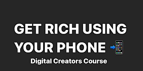 Social Media Influencer Online Course on Monetizing & Branding tickets