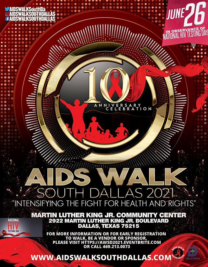 10th Anniversary AIDS Walk South Dallas image