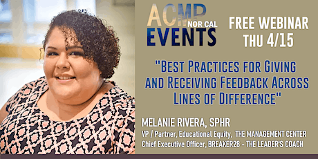 FREE WEBINAR - Giving and Receiving Feedback Across Lines of Difference tickets