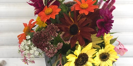 Wine & Flowers Workshop: Sunflowers and Zinnias tickets