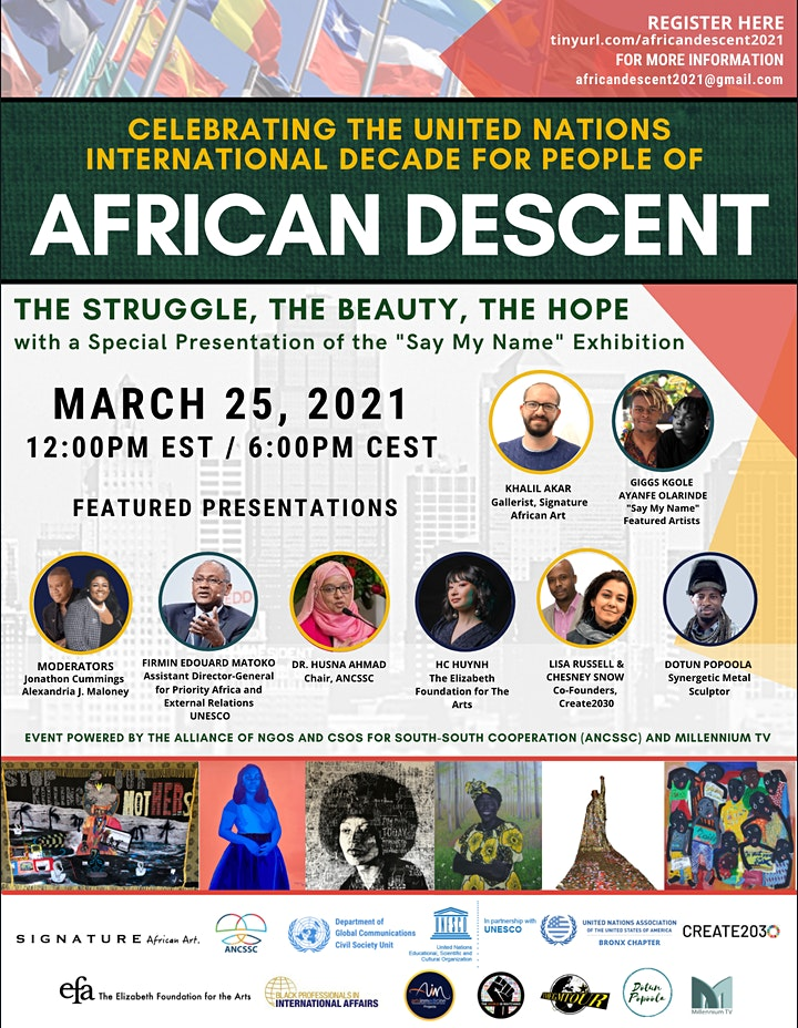 UN International Decade For People Of African Descent 2021 Celebration image