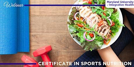 Webinar | Certificate in Sports Nutrition; Advance Your Career tickets