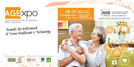 AGEXPO 2021 – ASEAN Senior Care and Wellness Expo Malaysia tickets