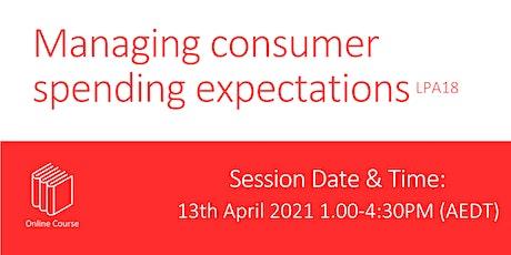 Managing consumer spending expectations Tickets