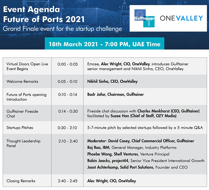 The Future of Ports 2021, presented by Gulftainer (8am PDT/7pm UAE) image