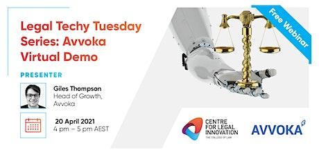 Legal Techy Tuesday Series: Avvoka Virtual Demo tickets