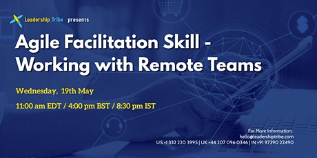 Agile Facilitation Skill - Working with Remote Teams - 190521 - US tickets