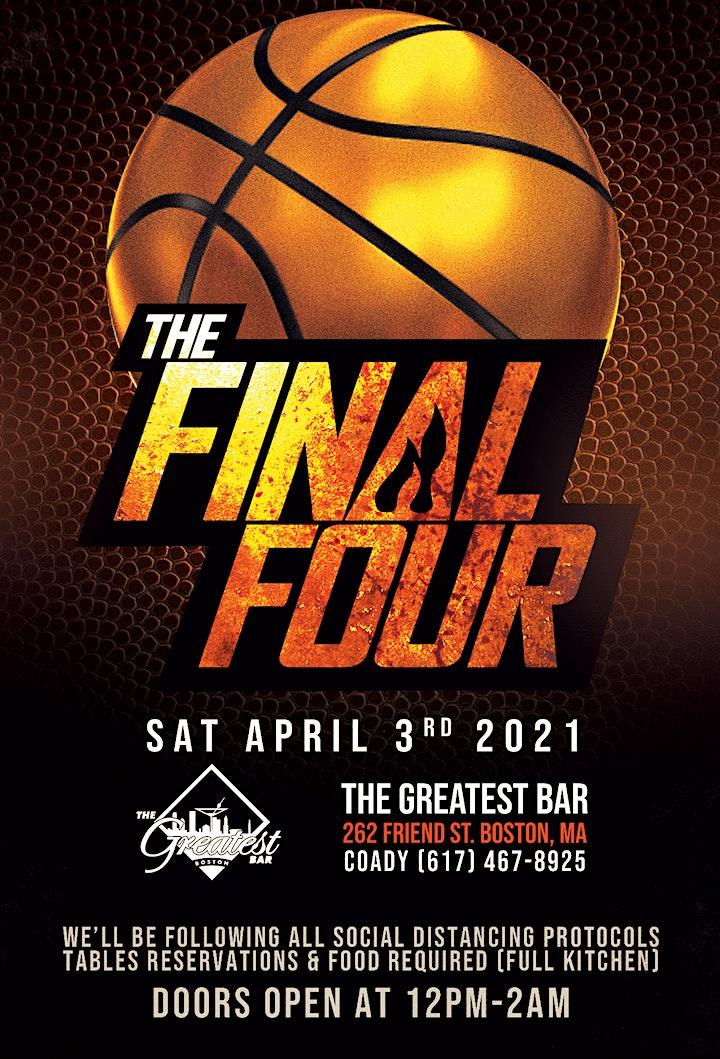 NCAA FINAL FOUR  @ THE GREATEST BAR image