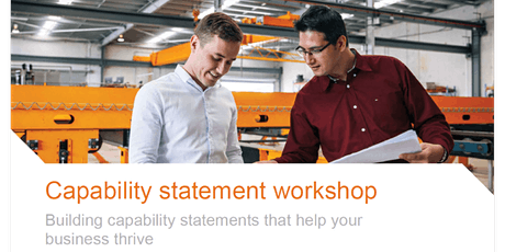 Preparing your business' Capability Statement tickets
