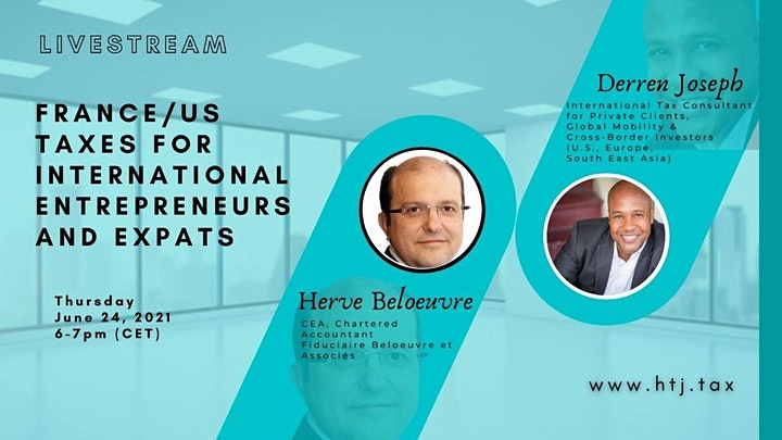 (LIVESTREAM) U.S. / France Taxes for International Entrepreneurs & Expats. image