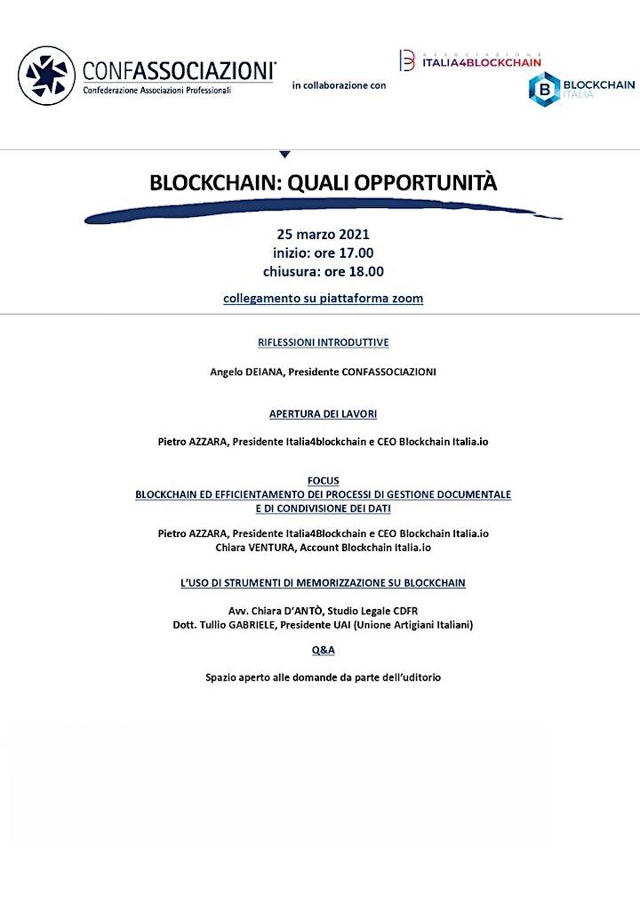Immagine Blockchain:  Quali opportunità
