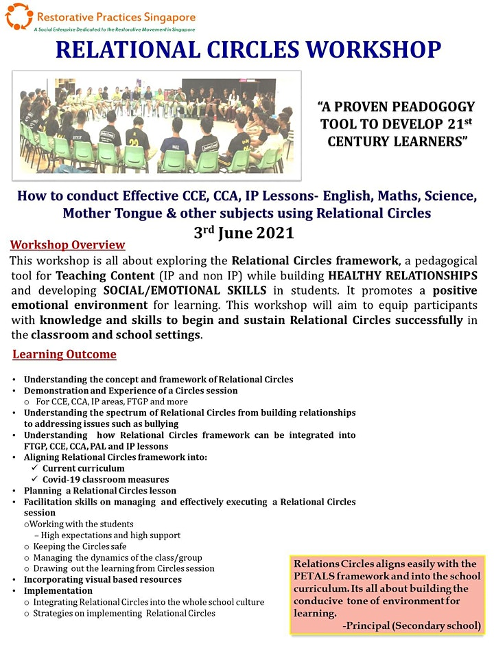 Relational Circles Pedagogy- CCE  and IP Lessons Workshop this June! image