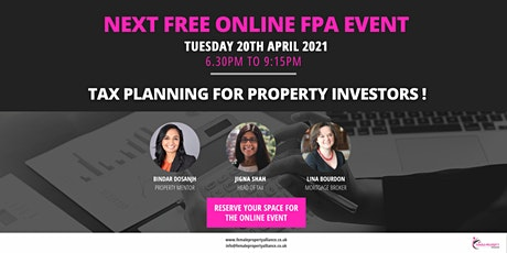 Tax Planning for Property Investors tickets
