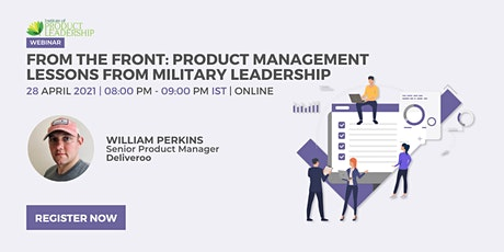 From the Front: Product Management Lessons from Military Leadership tickets