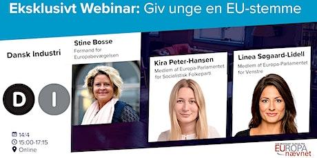 Webinar: Giv unge en EU-stemme! tickets
