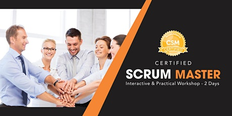 CSM (Certified Scrum Master) certification Training In Baltimore, MD tickets
