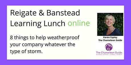 May Learning Lunch - How to weatherproof your company tickets