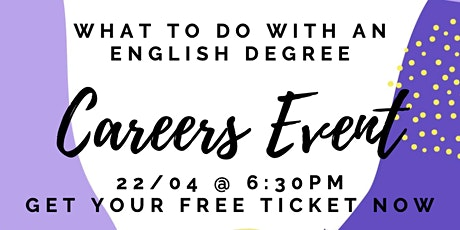 UoM English Literature Society Careers Event tickets