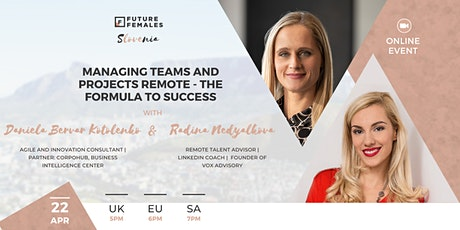 Managing Teams and Projects Remote - The Formula to Success   FF SLO tickets