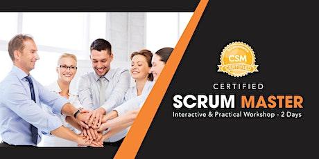 CSM (Certified Scrum Master) certification Training In San Diego, CA tickets