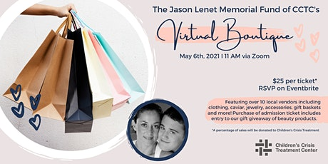 The Jason Lenet  Memorial Fund of CCTC: Boutique Shopping Event tickets