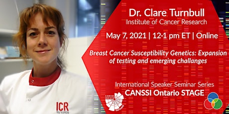CANSSI Ontario STAGE ISSS Series: Dr. Clare Turnbull tickets