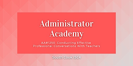 AA#1250: Conducting Effective Professional Conversations with Te... (06901) tickets