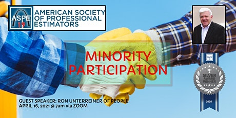ASPE CH 19 - APR 2021 Ch Meeting - Minority Participation with Ron U. Tickets