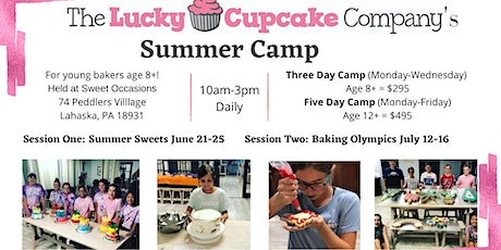 Summer Camp with the Lucky Cupcake - Session 2; Three Day tickets
