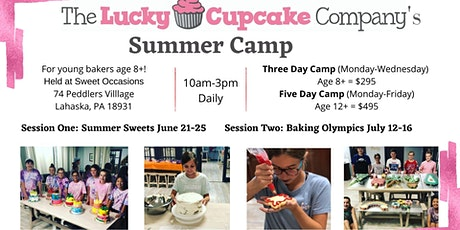 Summer Camp with the Lucky Cupcake - Session 2; Five Day tickets