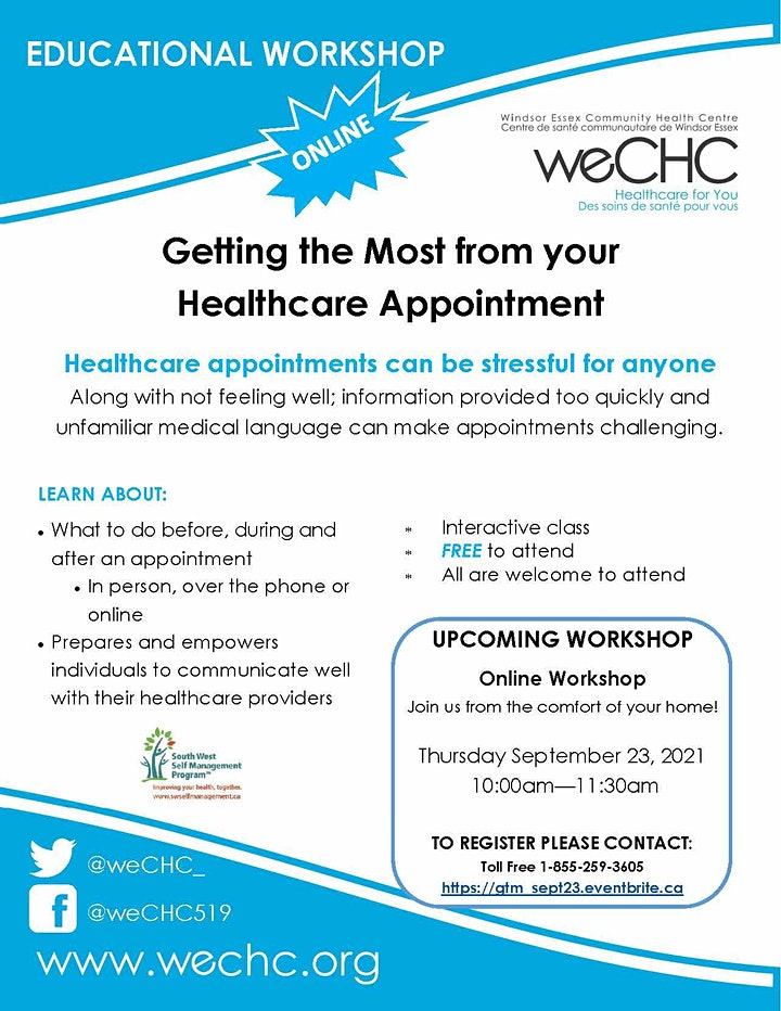 Getting the Most From Your Healthcare Appointment Webinar - FREE image