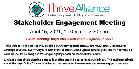 Thrive Alliance Stakeholder Engagement Meeting tickets