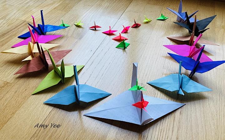 Origami Crane Workshop - 1000 Cranes Covid 19 Community Art Project image