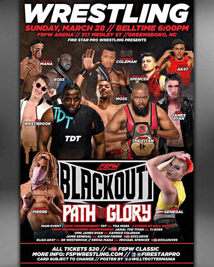 FSPW Presents: Last Fight on Medley St & Blackoutt LIVE: Path to Glory! image