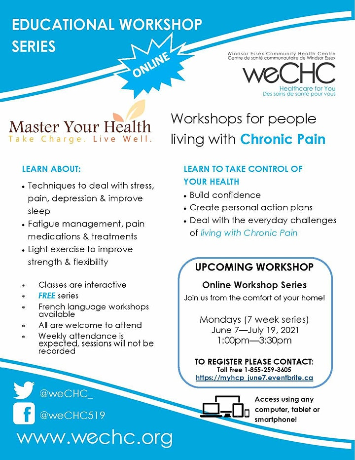 Master Your Health Webinar - FREE ONLINE Chronic Pain Workshop Series image