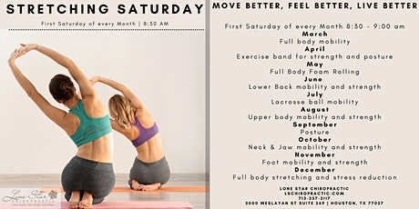 Stretching Saturday - Lower back Mobility and Strength tickets