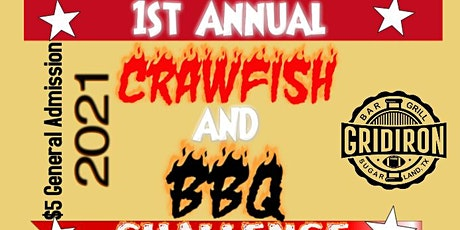 Gridiron Bar & Grill 1st Annual BBQ and Crawfish Cookoff tickets