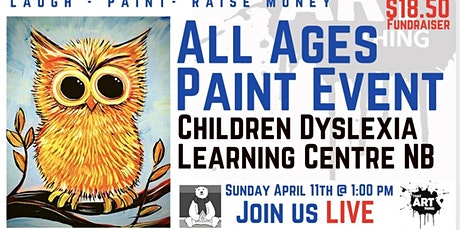 Paint Night Fundraiser - the one with the Owl tickets