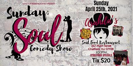 Sunday Soul Comedy @ Asahda's tickets