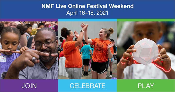 NMF Live Online Festival Weekend – 2021 National Math Festival image