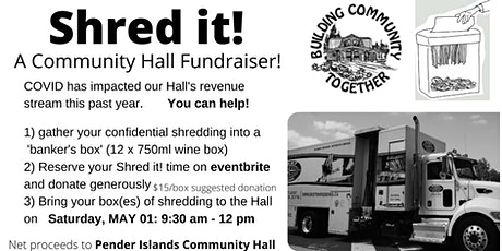Shred it! at the Pender Islands Community Hall tickets