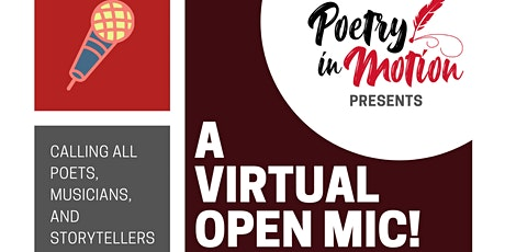 Poetry In Motion presents A Virtual Open Mic in April! tickets