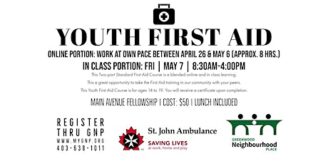 Youth First Aid tickets