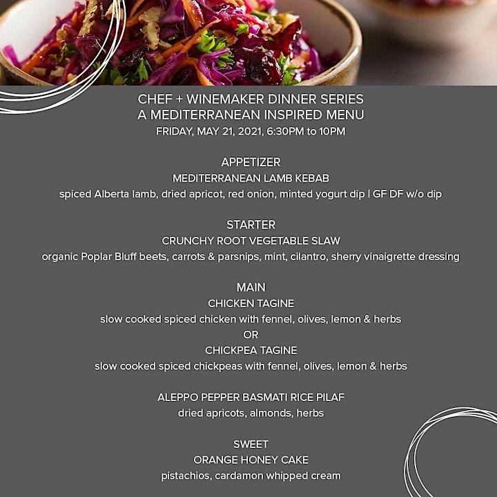 Chef & Winemaker Dinner Series: A Mediterranean Inspired Menu image