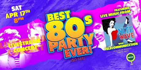 NVCS presents NITE WAVE Best '80s Party Ever! (Live Stream + Golden Ticket) Tickets