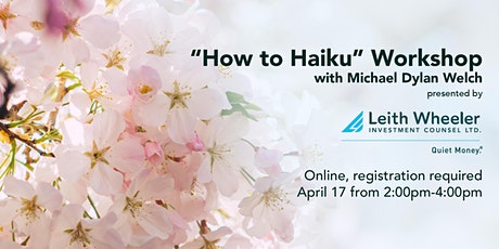 """""""How to Haiku"""" with Michael Dylan Welch tickets"""