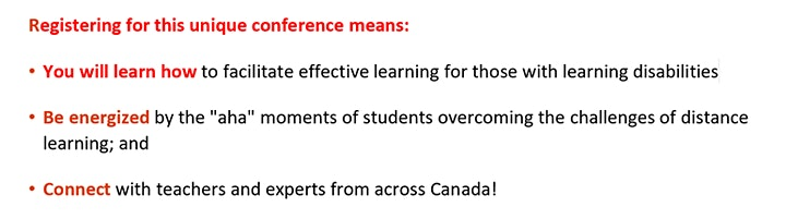 Learning Disabilities Association of Canada Conference 2021 image