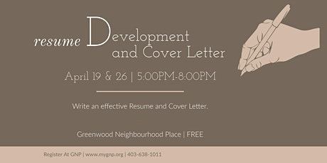 Resume Development and Cover Letter tickets