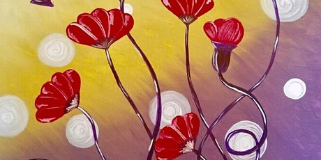 Live Online Paint and Sip Event - Twisted Flower tickets