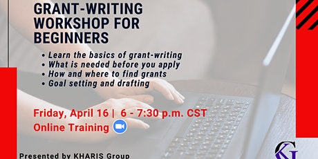 Grant Writing Workshop For Beginners tickets